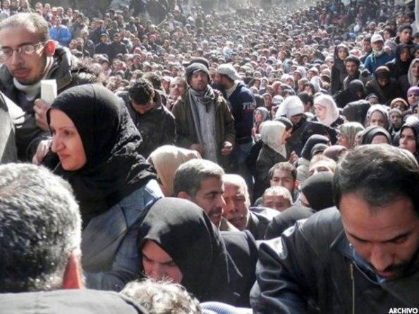 Campo de refugiados palestinos en Siria